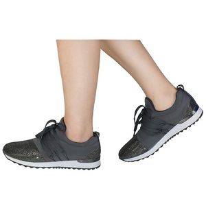 Shoes - Silver Slip On Sneakers
